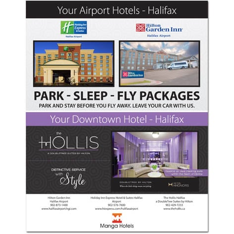 Manga Hotels Magazine Ad