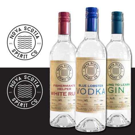 Nova Scotia Spirit Co Logo and label