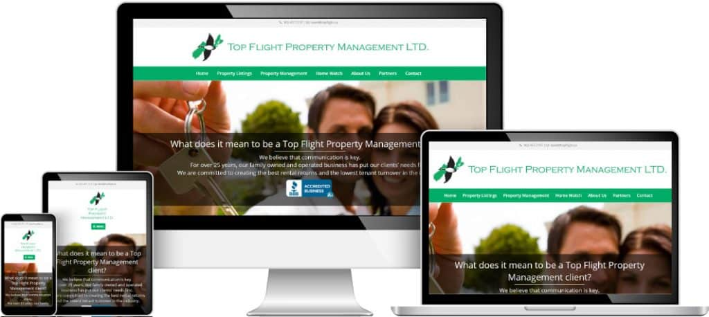 Top Flight Property Management web sample