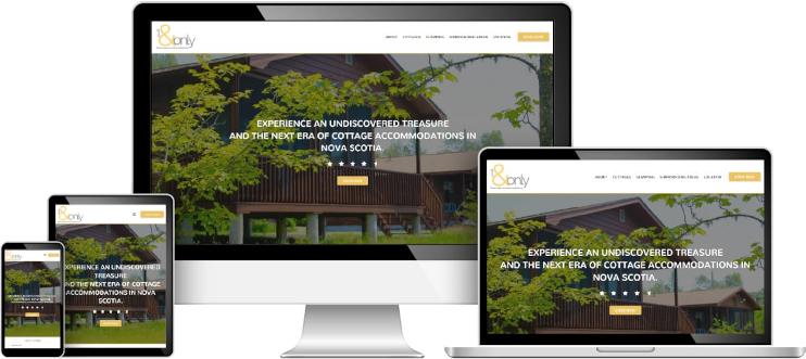 1 & Only web design sample