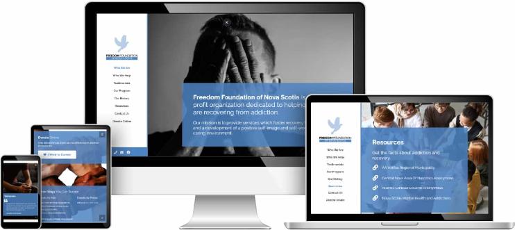 Freedom Foundation of Nova Scotia web design sample
