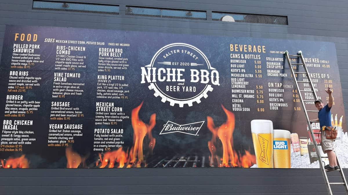 Niche BBQ giant outdoor menu