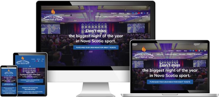Nova Scotia Sport Hall of Fame web design sample