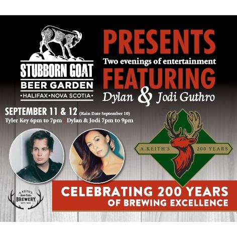Stubborn Goat Beer Garden concert a-frame
