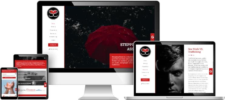 Stepping Stone Nova Scotia web design sample