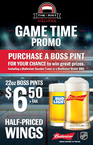 The Pint / NHL Game Time promo poster