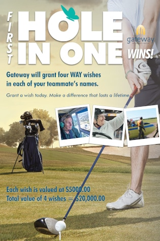 Gateway Insurance / We Are Young golf poster